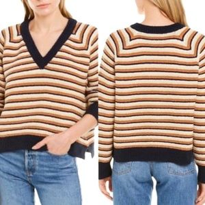 NEW MADEWELL Arden V-Neck Crop Pullover Sweater